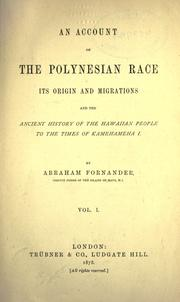 Cover of: account of the Polynesian race | Abraham Fornander