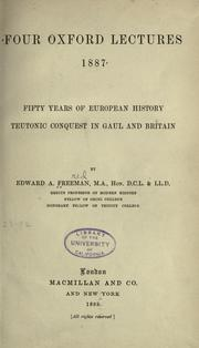 Cover of: Four Oxford lectures, 1887