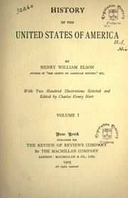 Cover of: History of the United States of America