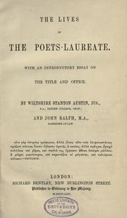 Cover of: The lives of the poets-laureate