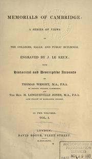 Cover of: Memorials of Cambridge