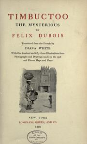 Cover of: Timbuctoo the mysterious by Félix Dubois