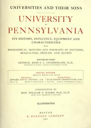 Cover of: University of Pennsylvania