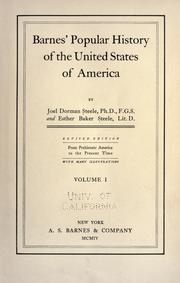 Cover of: Barnes' popular history of the United States of America