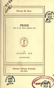 Cover of: Pride-- one of the seven cardinal sins. | EugГЁne Sue