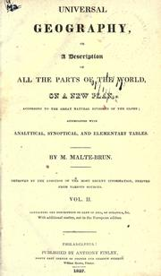 Cover of: Universal geography