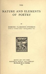 Cover of: The nature and elements of poetry
