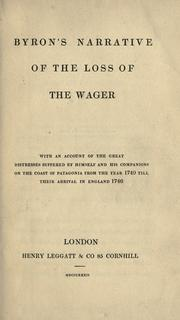 Cover of: Byron's narrative of the loss of the Wager