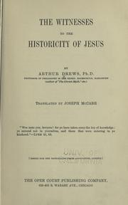 Cover of: The witnesses to the historicity of Jesus
