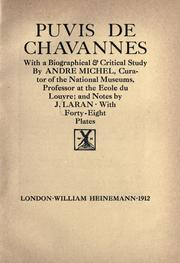 Cover of: Puvis de Chavannes
