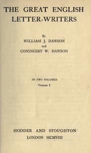 The great English letter-writers by William James Dawson