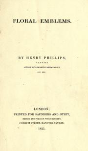 Cover of: Floral emblems. by Phillips, Henry