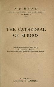 Cover of: The cathedral of Burgos