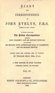 Cover of: Diary and correspondence