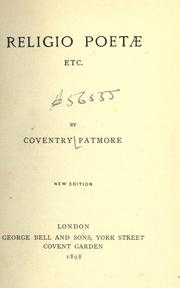 Cover of: Religio poetæ etc
