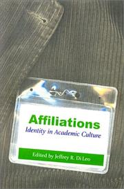 Cover of: Affiliations |
