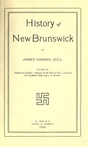 Cover of: History of New Brunswick