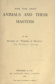 Cover of: Some talk about animals and their masters