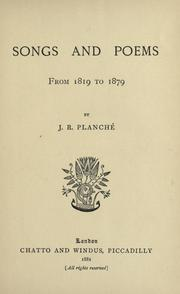 Cover of: Songs and poems from 1819 to 1879