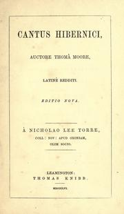 Cover of: Cantus hibernici | Thomas Moore
