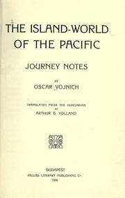 Cover of: island-world of the Pacific | OszkaМЃr Vojnich