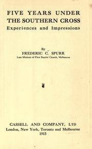 Cover of: Five years under the Southern Cross