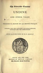 Cover of: Undine and other tales