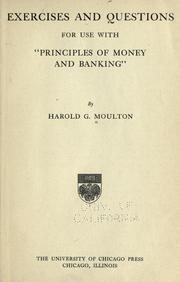 "Cover of: Exercises and questions for use with ""Principles of money and banking"""