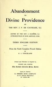Cover of: Abandonment to divine providence | Jean Pierre de Caussade