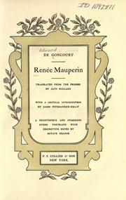 Cover of: Renée Mauperin