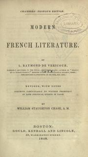 Cover of: Modern French literature