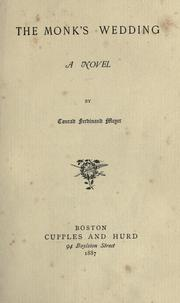 Cover of: The monk's wedding