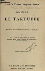 Cover of: Le Tartuffe. by Molière