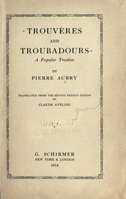 Cover of: Trouvères and troubadours
