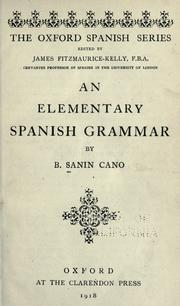 Cover of: An elementary Spanish grammar