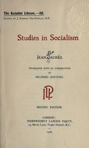 Cover of: Studies in socialism. | Jean JaurГЁs