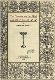 Cover of: The shadow on the dial: and other essays