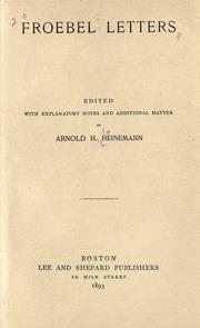 Cover of: Froebel letters