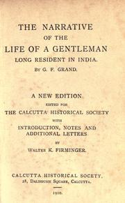 Cover of: The narrative of the life of a gentleman long resident in India
