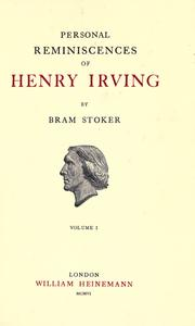 Cover of: Personal reminiscences of Henry Irving