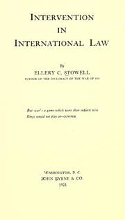 Intervention in international law by Ellery C. Stowell