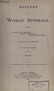 Cover of: History of woman suffrage