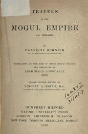 Cover of: Travels in the Mogul Empire, A.D. 1656-1668 by François Bernier