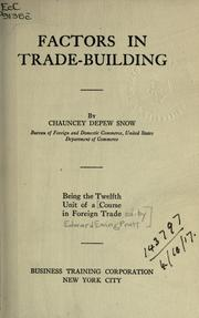 Cover of: Course in foreign trade