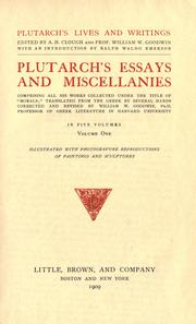 "Cover of: Plutarch's essays and miscellanies: comprising all his works collected under the title of ""Morals"""