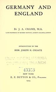 Germany and England by J. A. Cramb