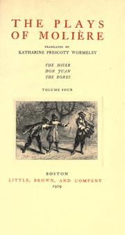 Cover of: The plays of Molie  re