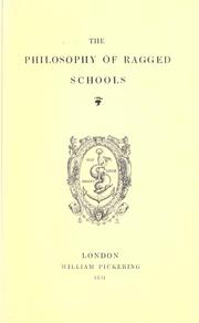 Cover of: The philosophy of ragged schools