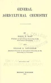 Cover of: General agricultural chemistry