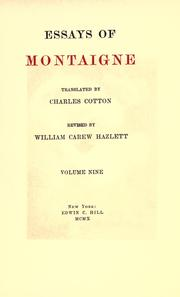 Cover of: The works of Michel de Montaigne